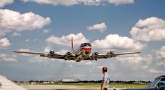 Chicago Midway Airport - Northwest Airlines - Boeing 377 (Stratocruiser) (twa1049g) Tags: chicago airport northwest 1957 boeing midway airlines 377 stratocruiser