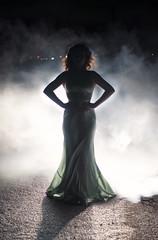 (LornaKatyJoy) Tags: road portrait girl car silhouette 50mm lights dress smoke carheadlights d90 smokebombs lornakatyjoy lornaquinn