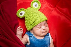Ismail (Ash if) Tags: red portrait baby cute hat crying newborn ismail