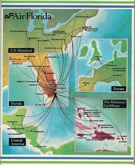 Air Florida route map, December 1983 (airbus777) Tags: diagram mia network 1983 tbt routemap airflorida