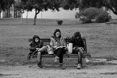 sardegna street city urban blackandwhite bench reading... (Photo: Stefano E on Flickr)