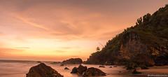 Goa (naturelensman) Tags: longexposure travel sunset sea orange india beach water landscape twilight nikon goa notripod d5500