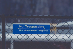 No Trespassing - U.S. Government Property (Tony Webster) Tags: minnesota sign wisconsin river us unitedstates lock dam genoa mississippiriver trespassing notrespassing usarmy usgovernment trespassingsign lockanddam usg greatriverroad jeffersontownship usarmycorpsofengineers notrespassingsign riverlock usgovernmentproperty 4405highway35 lockdam8 pooleight64700