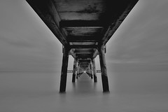 Dark pier (Nathan J Hammonds) Tags: sea white monochrome pier kent movement nikon long exposure slow structure deal blackand dn 2485mm 10stop