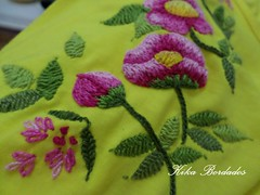 KikaBordados Kika  Krauss 082 (Kika Bordados by Angelica Krauss) Tags: pink flowers flores handmade embroidery laranja crochet tshirt amarelo bordados manualidades croche embroider feitomo camisetabordada camisetabordadamo bordadosfeitomo kikabordadoskikakrauss