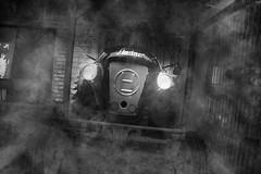 Achtung der Lindner (pat.netwalk) Tags: bw drive austria traktor weiss schwarz rauch rauchen leutasch lindner copyrightpatrickfrank vielrauch