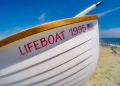 Cape May Life Boat (Daveyal_photostream) Tags: blue usa motion blur beach nature beautiful beauty america boat movement sand nikon outdoor flag bluesky lifeboat capemay softlight d600 nikor awesomeshots gopro mycamerabag mygearandme meandmygear