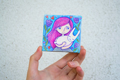 girl-and-rabbit_5 (apolinarias) Tags: pink art girl easter etsy