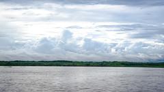 River Panorama (MudflapDC) Tags: travel cruise vacation panorama peru water rain clouds river amazon jungle pe loreto excursion pacayasamirianationalreserve delfinii