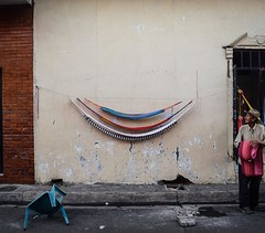 Day 274. Because of my shortcut I was able to wander around San Miguel last night. It's an old, rough city with a very gradual transition from rural to urban. I spoke with this hammock salesman for a bit but he mumbled so much The only thing I understood