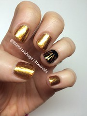 Blackstar (littlecabbage) Tags: gold january nails manicure davidbowie nailart 2016 heznails