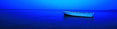 Peaceful (terry taieb) Tags: blue sunset sea sky panorama color water skyline amazing magic panoramic calm chillin bark zen barque