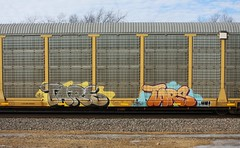 Tars (quiet-silence) Tags: railroad art train graffiti railcar graff freight aa tars autorack fr8 aacrew
