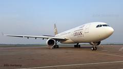 JV-2016-01-25-006 (johnveerkamp) Tags: plane airbus uganda airlines libyan a330202 5alar