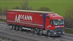 YF62 XNK (panmanstan) Tags: truck wagon mercedes motorway m18 yorkshire transport lorry commercial vehicle freight langham haulage hgv actros curtainsider