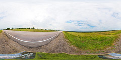 Detour Trestny, near the village Pesogory. Part 2 (ilya_yakunin) Tags: road panorama nature canon landscape landscapes village russia 360 360x180 spherical 360 sphericalpanorama  equirectangular 18135 photosphere 550d canon550d canoneos550d  trestna