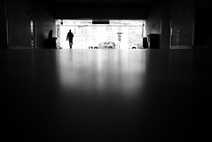 Leaving (maekke) Tags: street urban bw man reflection silhouette switzerland noiretblanc pov streetphotography tunnel sbb pointofview hauptbahnhof trainstation fujifilm zrich minimalism ch zrichhb 2016 zrichhauptbahnhof x100t