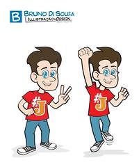 Mascote-Jairzinho (Bruno Di Souza) Tags: website download convite vector loja caricatura vetor contato papelaria baixar brunodisouza