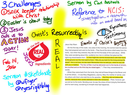 Luke 24-1-12 Sermon Sketchnote by Wesley Fryer, on Flickr