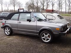 1983 Volkswagen Rabbit Convertible (Skitmeister) Tags: auto holland classic netherlands car vw vintage golf automobile voiture oldtimer niederlande classique klassiker pkw  klassieker  carspot skitmeister lp20vd
