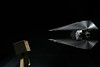 Close encounters (undeklinable) Tags: light scale toys star starwars flash negro tie ufo wars proportion fondo ovni interceptor danboard