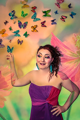 Flowers and Butterflies (MattDeLuise) Tags: flowers winter summer portrait woman sun nature rose lights spring witch books charm showgirl singer knowledge powers