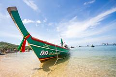 IMG_8916_edited-1 (Lauren :o)) Tags: ocean blue sea sky beach thailand island boat paradise kohtao longtail longtailboat turtleisland desertisland