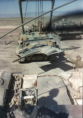 M1 Abrams MBT / with Rear Deck Removed (Digital Vigilante) Tags: engine 1992 powerpack mainbattletank m1abramsmbt m88recoveryvehicle honeywellagt1500c