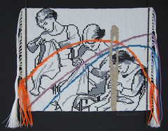 Common Threads (Peggy Dembicer) Tags: thread mixedmedia sewing surfacedesign stitching fiberart fiber weaving appropriation beadwork attribution beadweaving loomwork dembicer connecticutartist peggycorallo beadloomwork