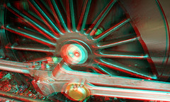 3D Wheel Rod (Little Boffin (PeterEdin)) Tags: railroad red color colour green wheel metal train stereoscopic 3d eyes iron pacific suspension steel wheels traction tracks cyan rail railway loco trains anaglyph steam stereo springs locomotive tornado rods opticalillusion locomotion anaglyphs steamengines lner connectingrod steamlocomotives 462 networkrail stereoimages thetornado londonandnortheasternrailway 3dpictures 60163 stereopictures a1steamlocomotivetrust a1pacific a1peppercorn peppercornclassa1tornado anaglyphimages 3danaglyphimages