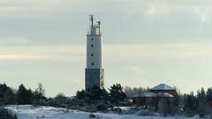 A view from Sydostkobbarna to the Rnnskr lighthouse (Kirkkonummi, 20160123) (RainoL) Tags: winter lighthouse snow finland geotagged island frost january fin islet 2016 uusimaa porkala nyland kirkkonummi porkkala rnnskr kyrksltt 201601 fz200 storlandet 20160123 sydostkobbarna trskn geo:lat=5994802158 geo:lon=2437863437