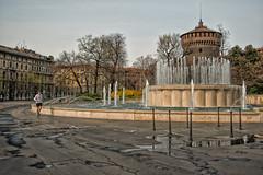 """ Good morning Milano"" (Jean-Pierre54) Tags: alba milano castellosforzesco piazzacairoli"