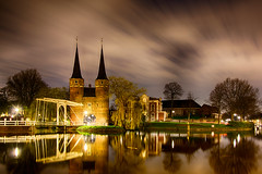 HDR Oostpoort Delft By Night (Haasnoot94) Tags: reflection water clouds reflections long exposure delft multiple hdr exposures bracketing oostpoort triggertrap