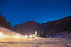 Night Church (Constantin Fellermann) Tags: schnee winter sky snow mountains alps church night germany stars bayern deutschland bavaria nacht kirche berge alpen sterne astrometrydotnet:status=failed oberstdrof astrometrydotnet:id=nova1487454
