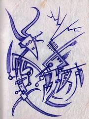 Biting of the Feeding Hand (darksaga66) Tags: art doodle penandink inkart bookofink