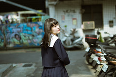 IMG_8719 (WANGYANZHI) Tags: street light people art photography sigma schoolgirl lr   ximen         canon6d