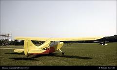Classic Aircraft (Duochrome) P1010082 (Trevor Durritt) Tags: england yellow suffolk m43 lightaircraft pancakelens duochrome microfourthirds panasoniclumixgf1 aeroncamodel7champion panasoniclumix14mmf25