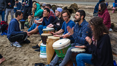(dcampusanog) Tags: sunset beach vancouver drums drum stanleypark thirdbeach vancouvering drumsfestival