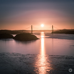 Uddevalla Bron (Bridge) - Sunset in February (Douglas Caldow) Tags: bridge sunset sea islands sweden harbour sverige hdr bron uddevalla pininfarena