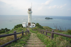 Hirakubo Lighthouse, Ishgaki, Japan (Ricky Reardon) Tags: ocean sea panorama lighthouse water beautiful coral japan island rocks north scenic reef viewpoint isle emerald ishigaki yaeyama turquise hirakubo