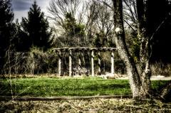 Restful place in the Garden_DSC5756 photoshop NIK edit  (nkatesphotography) Tags: nature gardens landscape outdoors scenic nikon1855mm nikond7000 bowmanstowerwildflowerpreserve