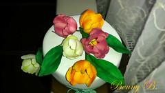Tulips cake (Beni 2) Tags: flowers white cake spring tulips fondant gumpaste