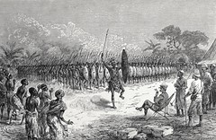 """""""A Phalanx Dance by Mazamboni's Warriors.""""  From """"In Darkest Africa"""" by Henry M. Stanley. NY: Scribner's, 1890. (lhboudreau) Tags: africa expedition illustration book dance spears exploring explorer illustrations books adventure jungle stanley warrior warriors adventures explorers 1890 shields bookart henrystanley africans hardcover natives firstedition phalanx vintagebook expeditions antiquebooks antiquebook vintagebooks africancontinent scribners classicbook hardcovers classicbooks hardcoverbooks blackafrican darkcontinent hardcoverbook charlesscribnerssons thedarkcontinent charlesscribners blackafricans indarkestafrica henrymstanley africanexpedition mazamboni africanexpeditions phalanxdance aphalanxdance mazamboniswarriors"""