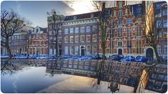 Mirror of Amsterdam (GuitarGeert) Tags: amsterdam mirror spiegel canals keizersgracht gracht peugeot308 snapseed samsungs6