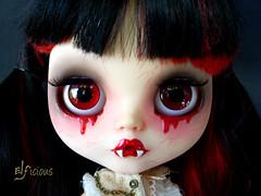 Alicia - the Vampire (ELFicious) Tags: eyes doll vampire ooak blythe custom eyechips elficious