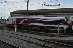8208 arrives at Connolly, 12/4/16 (hurricanemk1c) Tags: dublin irish train gm rail railway trains enterprise railways irishrail 201 nir generalmotors 2016 emd connolly iarnrd 8208 ireann northernirelandrailways iarnrdireann 1405belfastcentraldublinconnolly