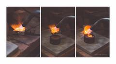 Bronze Sand Casting (Marissen) Tags: bronze nikon melting triptych craft burner blowtorch sigma50mm sandcasting tripdich d7000 sandstbning