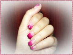 Ombre! ;) (Valy ;)) Tags: pink photo foto ombre nails sponge nailart