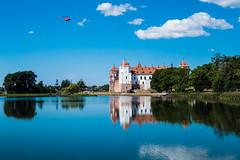 Schloss Mir (W***) Tags: by see belarus schloss mir ort helikopter weissrussland unescowelterbe weisrussland grodnoregion