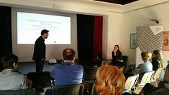 """Connecting and overcoming the boundaries between visitors and museums: presentation of the project EuroVision Museums Exhibiting Europe (EMEE)"""" in the Museum of Contemporary History Celje, Slovenia  on March 31st 2016 • <a style=""""font-size:0.8em;"""" href=""""http://www.flickr.com/photos/109442170@N03/26162445782/"""" target=""""_blank"""">View on Flickr</a>"""